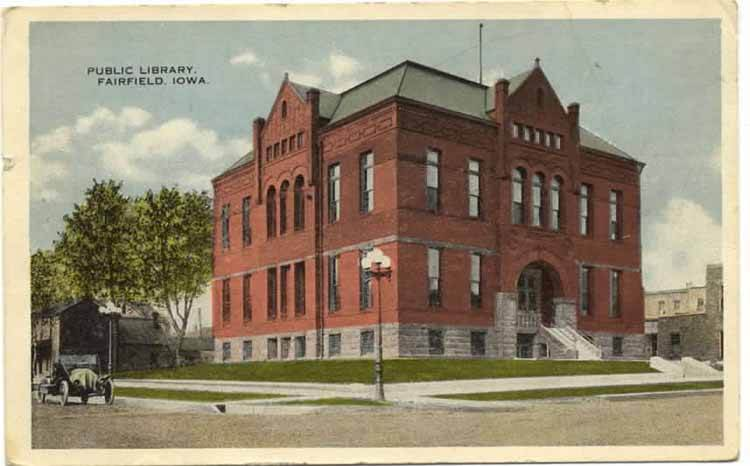 Postcard of Carnegie Historical Library.