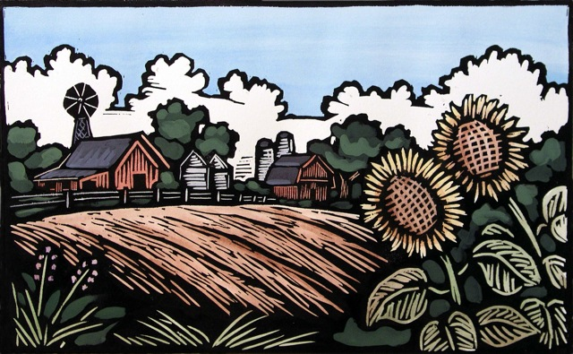 John Schirmer — Sunflowers by the Fields
